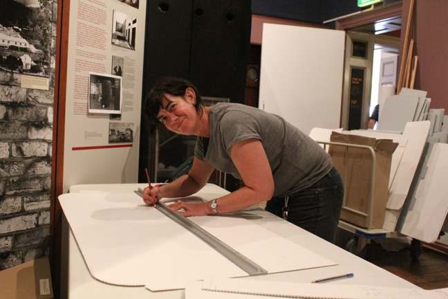 Maria Macdermott helping in Convict Gallery