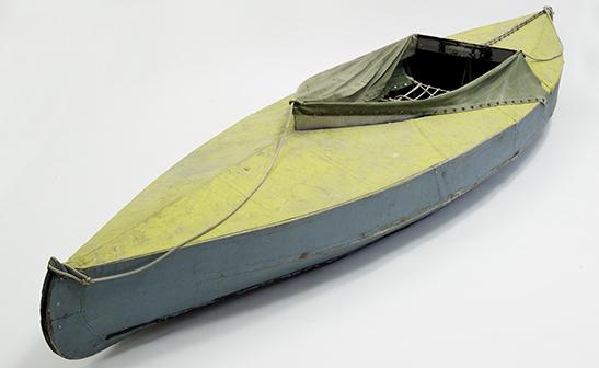 Peter Dombrovskis' kayak