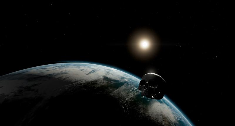 Shaun Gladwell Orbital vanitas