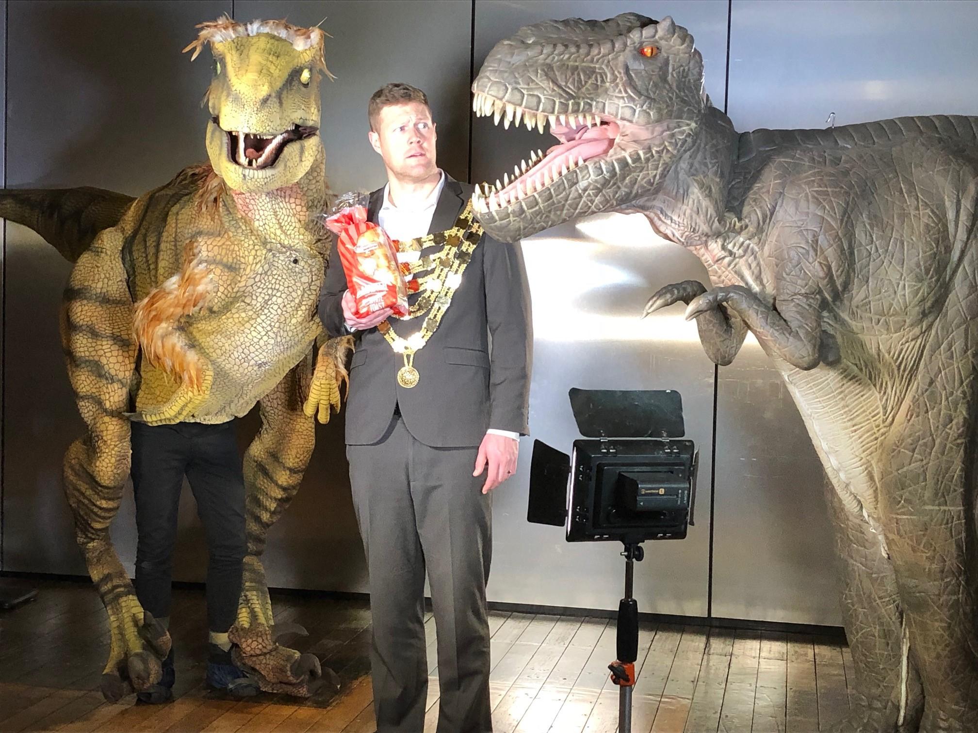 Cripps Ambassador with dinosaurs