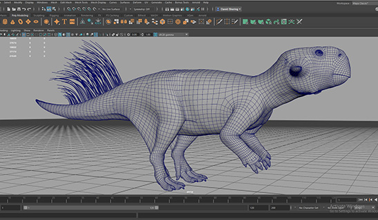 Wireframe of Psittacosaurus