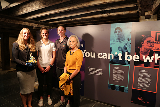 Tasmanian female athletes preview the exhibition
